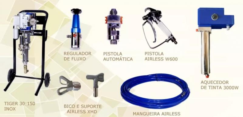 Requalificadora de botijão de Gás Agipliquigás equipamentos utilizados