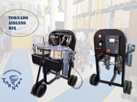 Tornado Airless Mix a nova máquina da Tornado Equipamentos de Pintura
